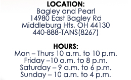 Tanning Salon Location & Hours